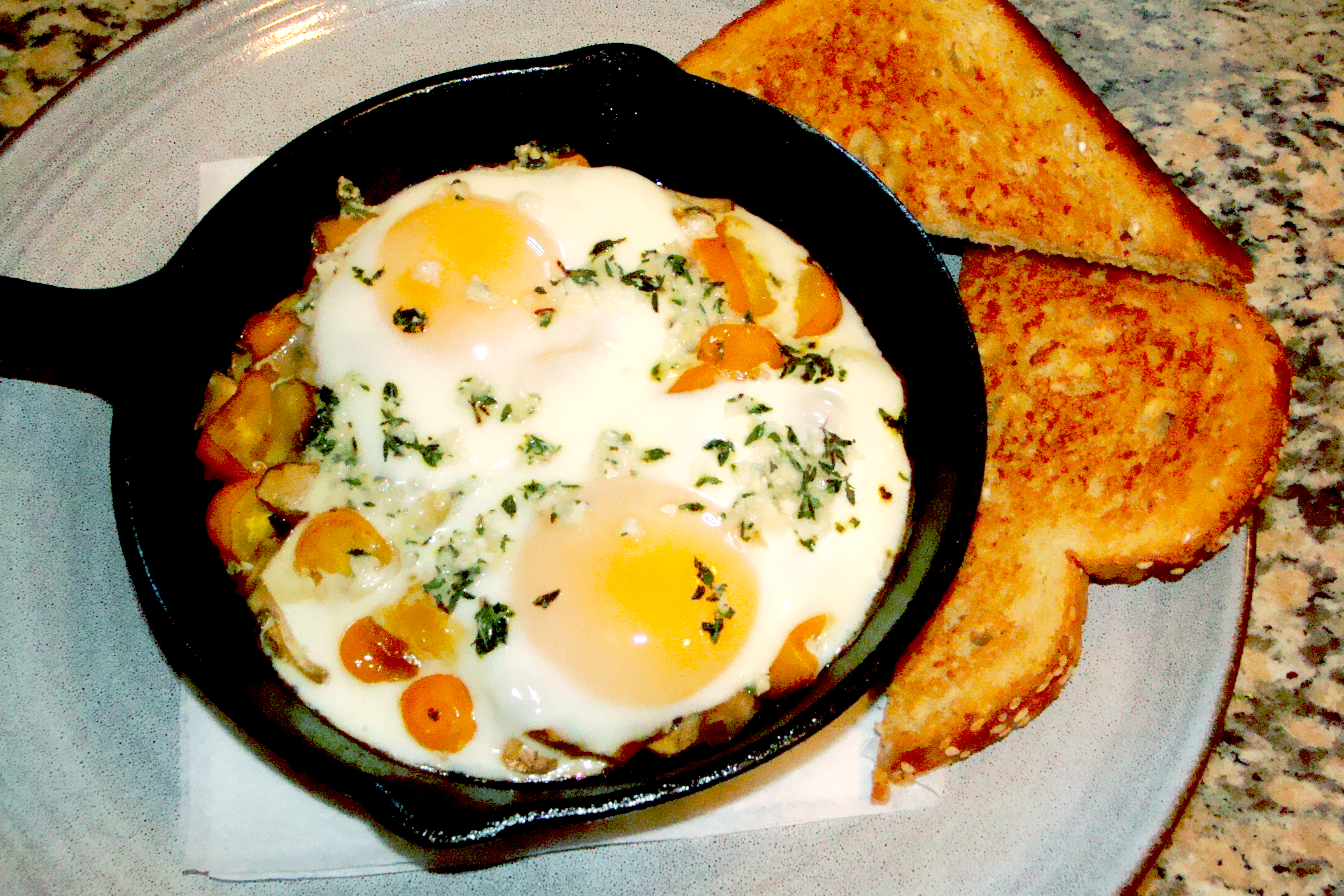 eggs baked eggs in whole roasted tomatoes recipes dishmaps and baked ...