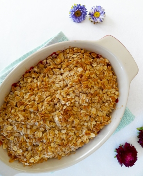 Plum Crumble from The Cheerful Kitchen