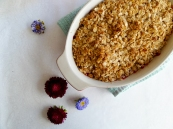Plum Crumble - The Cheerful Kitchen