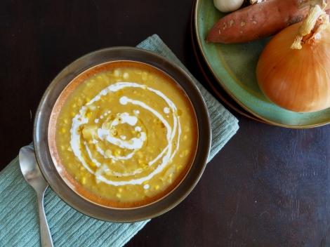 potato corn chowder via CheerfulKitchen