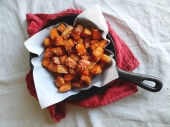 Sesame roasted Sweet Potatoes via The Cheerful Kitchen