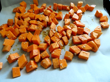 Sesame roasted Sweet potatoes