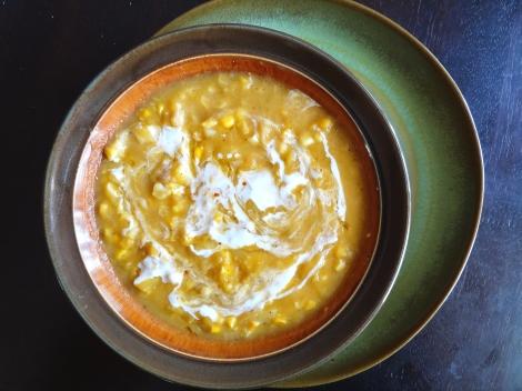 vegan corn potato chowder via CheerfulKitchen