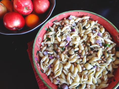 Basil and Lemon Pasta Salad via The Cheerful Kitchen