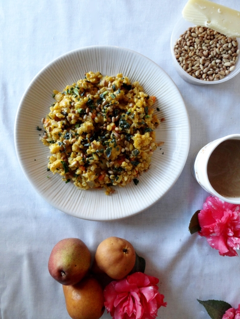 cauliflower & barley risotto from the cheerful kitchen