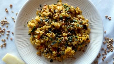 cauliflower barley risotto via the cheerful kitchen