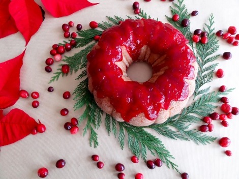 cranberry brandy bundt cake from the cheerful kitchen