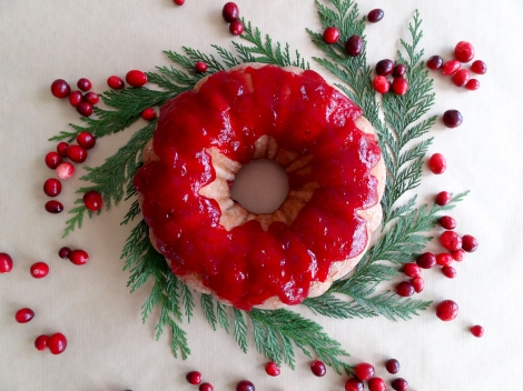 cranberry brandy bundt via the cheerful kitchen
