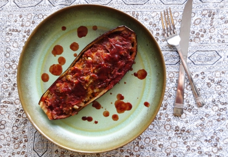 Stuffed Eggplant from The Cheerful Kitchen