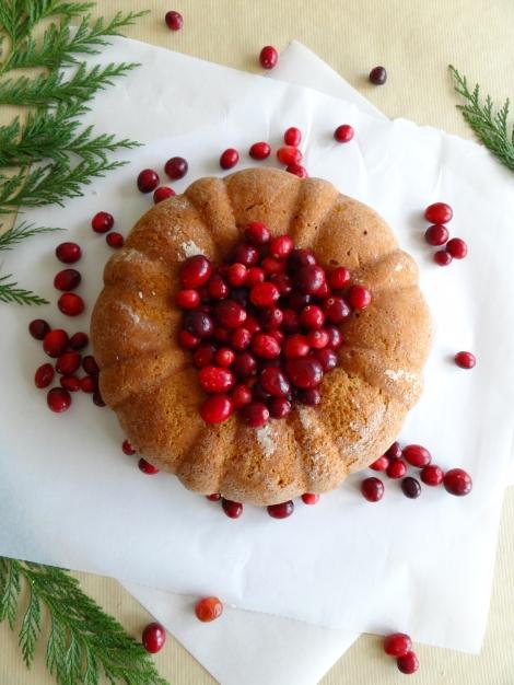 vegan cranberry brandy bundt cake the cheerful kitchen