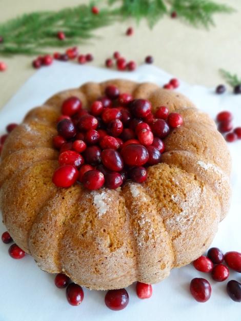 vegan cranberry brandy bundt the cheerful kitchen